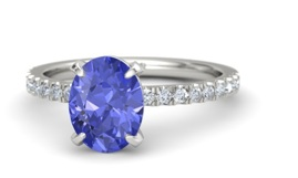 White Gold Oval Tanzanite Ring